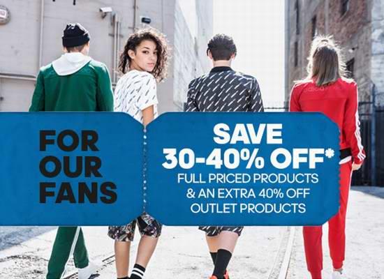 Adidas 亲友特卖会!全场正价商品6-7折!Outlet区特卖商品额外再打6折!