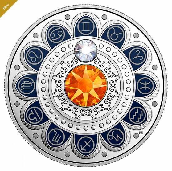 2017 施洛华世奇水晶 Zodiac系列 双子座 纯银纪念币 54.95加元销售并包邮!