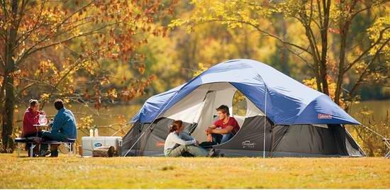 Coleman Red Canyon 超大8人家庭野营帐篷 156.1加元限时特卖并包邮!