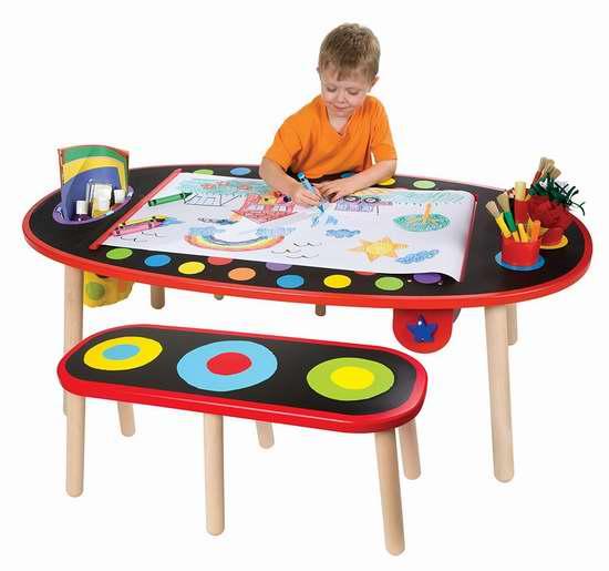 售价大降!历史新低!ALEX 儿童多用途超级绘画桌/书桌2.3折 87.01加元限时特卖并包邮!内置绘画纸卷!