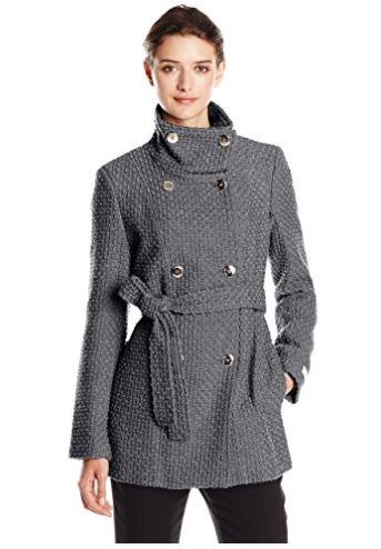 Calvin Klein 女士双排扣束腰外套 44.04加元起特卖!多色可选!