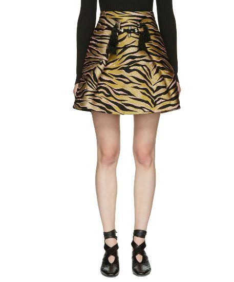 萌出時尚感!Kenzo 老虎条纹迷你裙 299加元(s码),原价 995加元,包邮