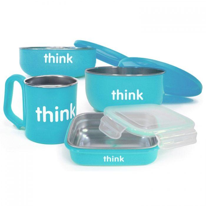 Thinksport 220102 兰色儿童餐具 47加元,原价 58.6加元,包邮