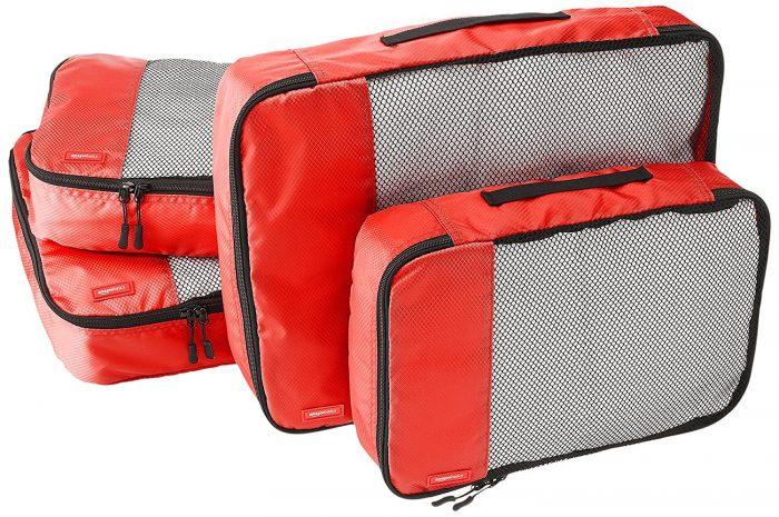 AmazonBasics 红色旅行衣物收纳袋4件套14.99加元限时特卖!