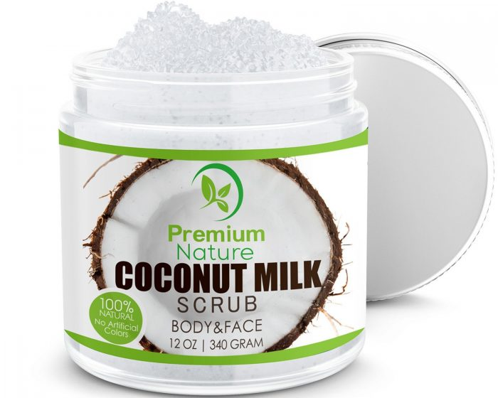 Premium Nature 100%天然椰子乳去角质身体磨砂膏 14.99加元,原价 29.99加元