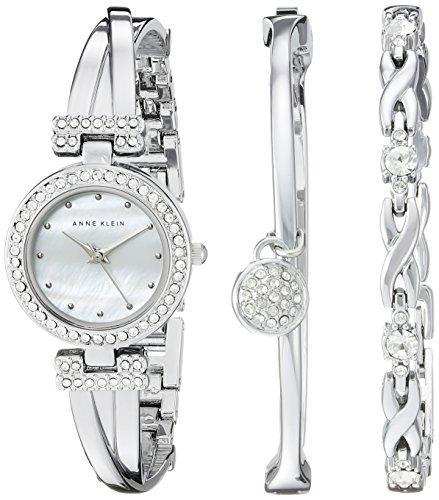 Anne Klein 女士施华洛世奇水晶腕表套装 129.44加元,原价 202.5加元,包邮