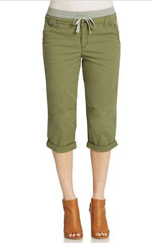 LORD & TAYLOR 军绿色束腰 7分裤 14.7加元(10码),原价 49加元