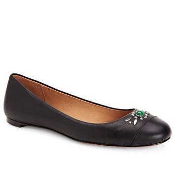 COACH Farrell 黑色芭蕾鞋 115加元,原价 230加元,包邮