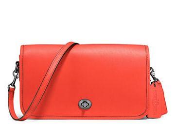 COACH Turnlock 橙色单肩包 139.12加元,原价 265加元,包邮