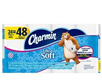 历史最低价!Charmin 24卷超软卫生纸 11.98加元,原价 19.99加元
