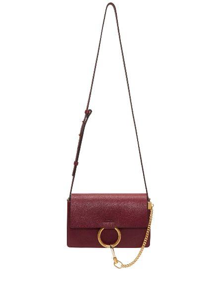 Chloé Faye红色小号单肩包 1502加元,原价 1950加元,包邮