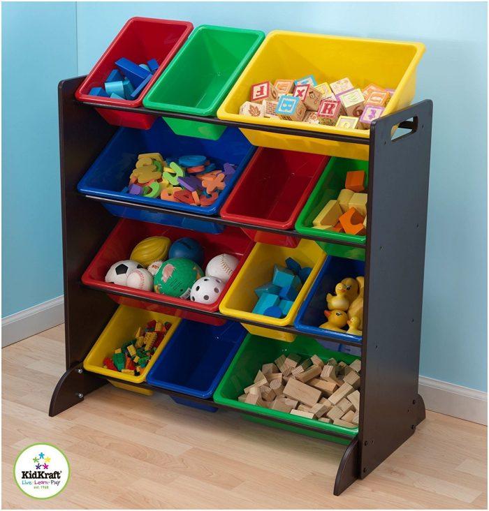 KidKraft豪华儿童玩具收纳架 79.97加元,原价 123.33加元,包邮