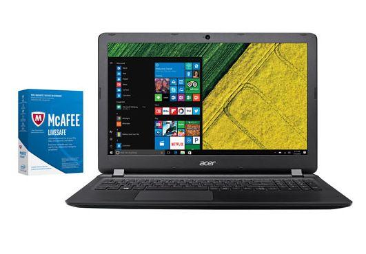 Acer Aspire ES 15.6英寸笔记本+McAfee LiveSafe 2017 套装 399.98加元,原价 639.98加元,包邮