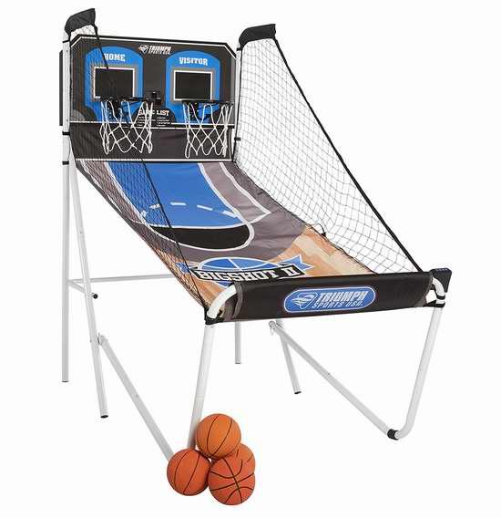 Triumph Sports Pop Shot 折叠式双人电子投篮机5折 118.07加元限时特卖并包邮!
