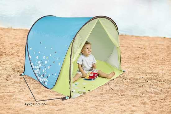 历史新低!Babymoov 弹出式防紫外线 婴幼儿遮阳棚4.8折 29.97加元限时特卖!