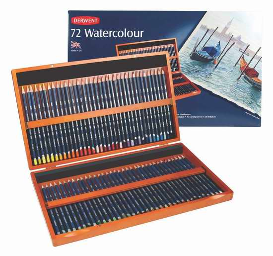 历史新低!Derwent 得韵 32891 Watercolor 72色水彩铅笔木盒装3.5折 92.95加元限时特卖并包邮!