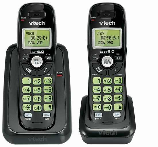 历史新低!VTech 伟易达 Dect 6.0 CS6114-21 无绳电话系统 24.99加元限时特卖!
