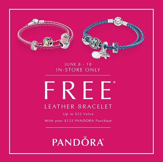 抓住周末最后机会!Pandora 潘多拉 6月8日起,店内购满125加元,送价值55加元皮制手链!