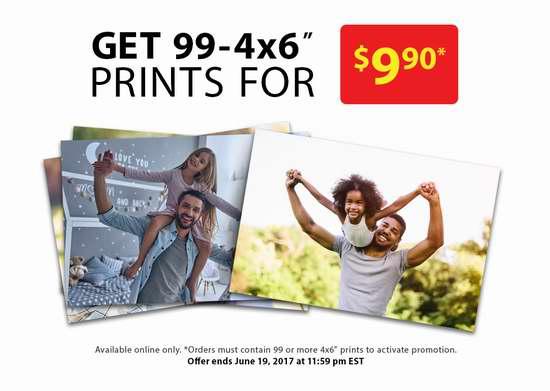 Walmart Photo Centre 打印99张6寸照片仅需9.9加元!