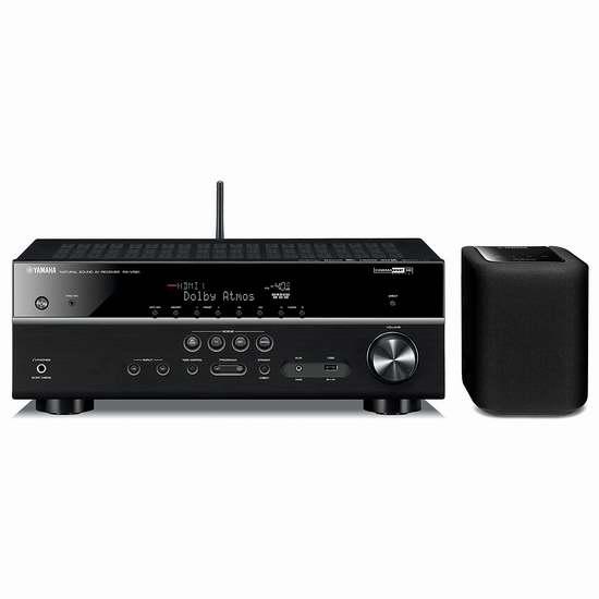 历史最低价!Yamaha 雅马哈 RX-V581BL 7.2-声道无线网络家庭影院次世代功放+WX010无线流媒体音箱超值套装5.2折 499.95加元限时特卖并包邮!