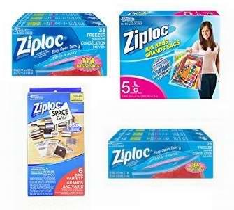 精选29款 Ziploc 食物保鲜袋、保鲜盒、衣物真空收纳袋等特价销售,满40加元额外立减10加元!