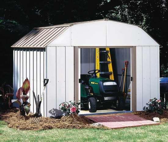 历史新低!Arrow Shed LX108-A Lexington 10x8英尺钢制庭院储物棚屋 385.55加元限时特卖并包邮!