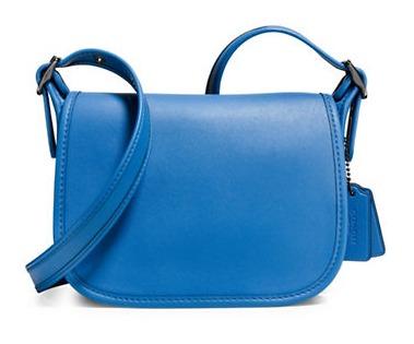 COACH Saddle 18 女士蓝色真皮马鞍包4.5折 119.25加元限时特卖并包邮!