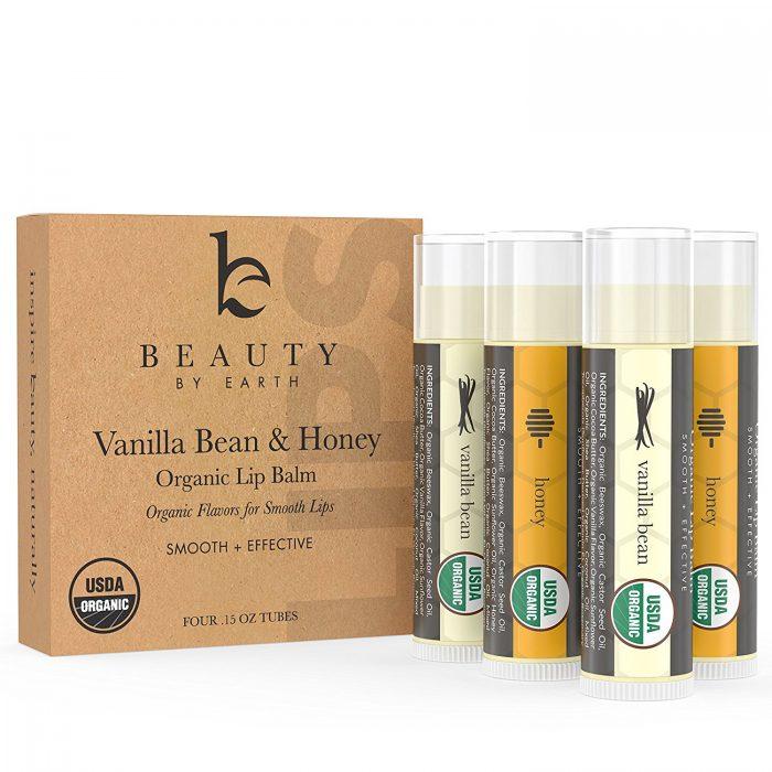 Beauty by Earth 100%纯天然滋润唇膏 4支 10.83加元,原价 27.99加元