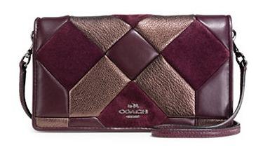 COACH Canyon Quilt 女士三色真皮拼接斜挎包3.7折 198.75加元限时特卖并包邮!