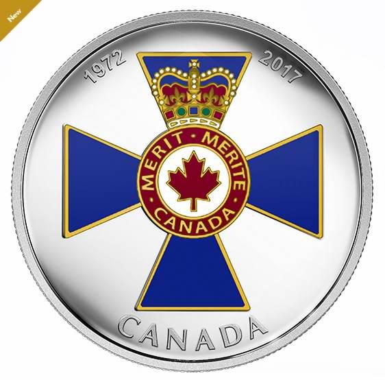 2017加拿大荣誉系列 45周年军事英勇勋章纪念币 109.95加元销售并包邮!