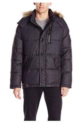 Calvin Klein 男式连帽防寒服(XL,L码)2.2折 55.18-57.41加元起限时清仓并包邮!2色可选!