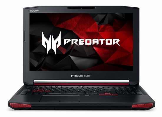 历史新低!Acer 宏碁 高端电竞 Predator 掠夺者 G9-592-71EF 15.6英寸顶级游戏笔记本电脑(16GB RAM, 1TB +256GB SSD+256GB SSD)5.1折 1401.09加元限时特卖并包邮!
