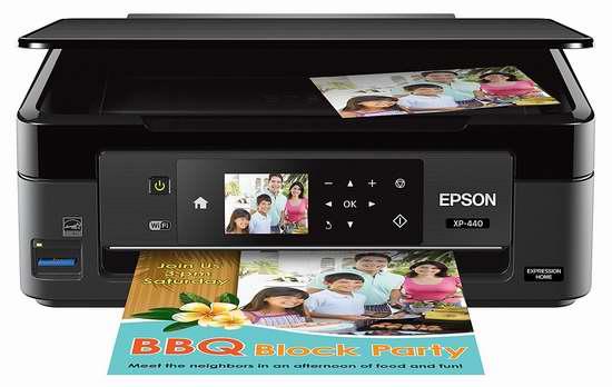 历史最低价!Epson 爱普生 XP-440 超紧凑 多功能一体 无线彩色喷墨打印机5折 49.99加元包邮!