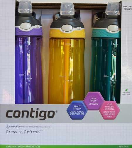 Contigo 康迪克 Autospout 750ml 运动冷饮吸管水杯3件套 37.95加元限时特卖并包邮!多色可选!