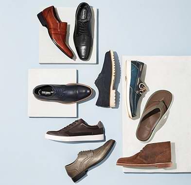 今日闪购:精选849款 Clark、Calvin Klein、ECCO、Rockport 等品牌男式皮鞋、休闲鞋、运动鞋、凉鞋等全部5折限时特卖!售价低至11加元!