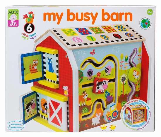 历史新低!ALEX Toys My Busy Barn 1998 忙碌的小谷仓 儿童益智玩具2.5折 23.12加元限时清仓!