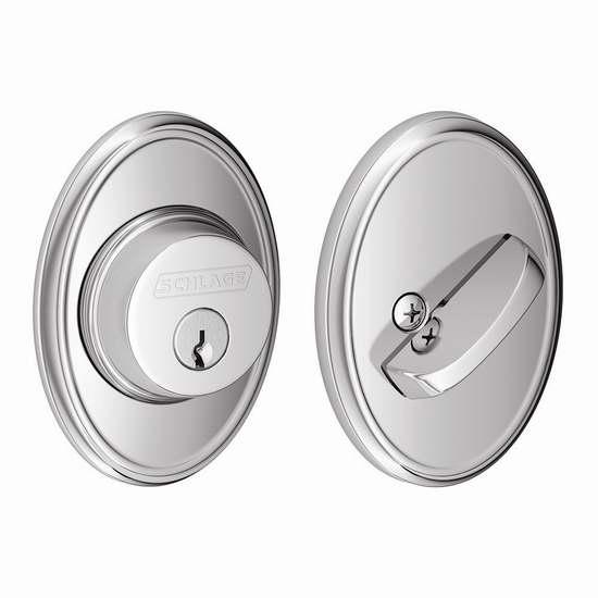 历史新低!Schlage B60N WKF 625 镀铬门锁2.5折 24.3加元限时清仓!