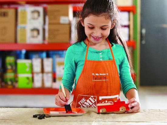 Home Depot 6-8月免费儿童手工课,及家庭装修免费课程安排一览!