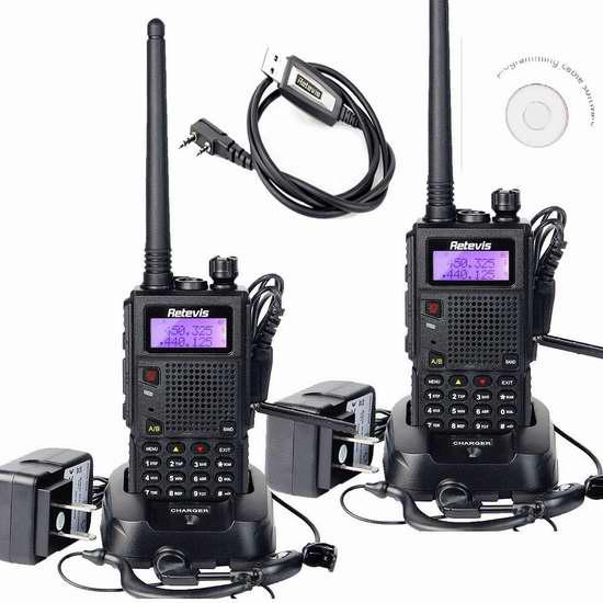 第二代 Retevis RT5 双频128信道无线专业双向对讲机/手台2只装 118.99加元限量特卖并包邮!