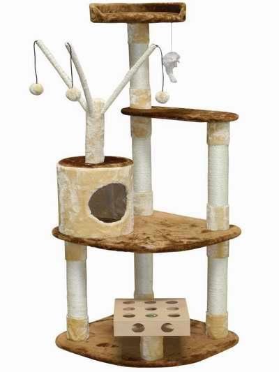 历史新低!Go Pet Club IQ Busy Box SF053 60英寸猫树公寓/猫爬架4折 67.19加元限时特卖并包邮!