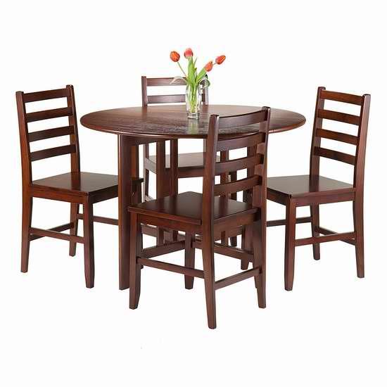 历史新低!Winsome Wood 94565 Alamo 圆形餐桌椅5件套 472.23加元限时特卖并包邮!