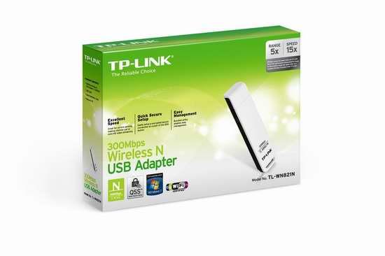 历史新低!TP-Link TL-WN821N 300 Mbps USB无线网卡 9.99加元限时特卖!