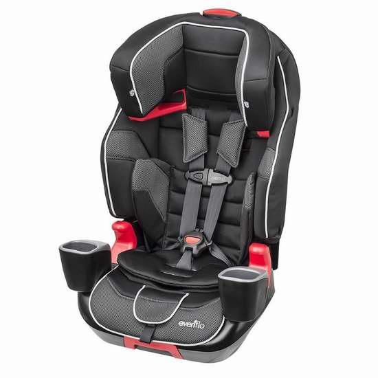 历史最低价!Evenflo Evolve 三合一成长型儿童汽车安全座椅5.8折 145加元包邮!