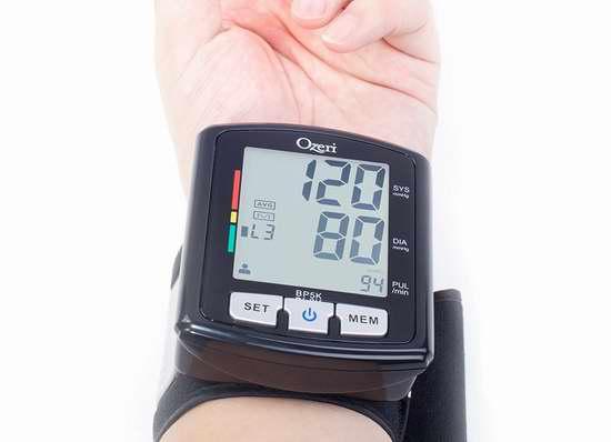 历史新低!Ozeri Cardiotech BP5K 智能语音腕带式电子血压计5.4折 27.13加元限时特卖!