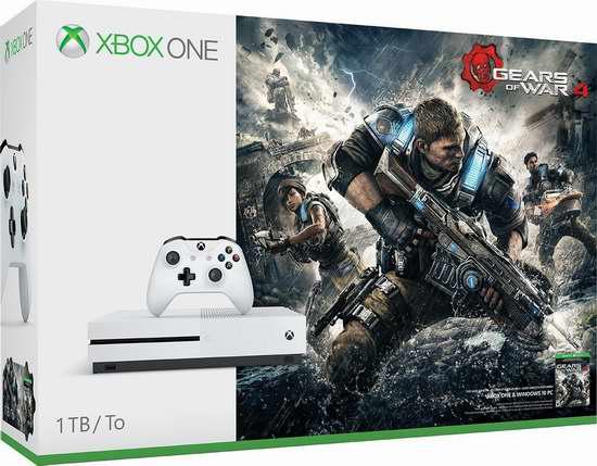 历史新低!Xbox One 1TB 家庭娱乐游戏机 + 《战争机器4》超值套装 364.95加元限时特卖并包邮!