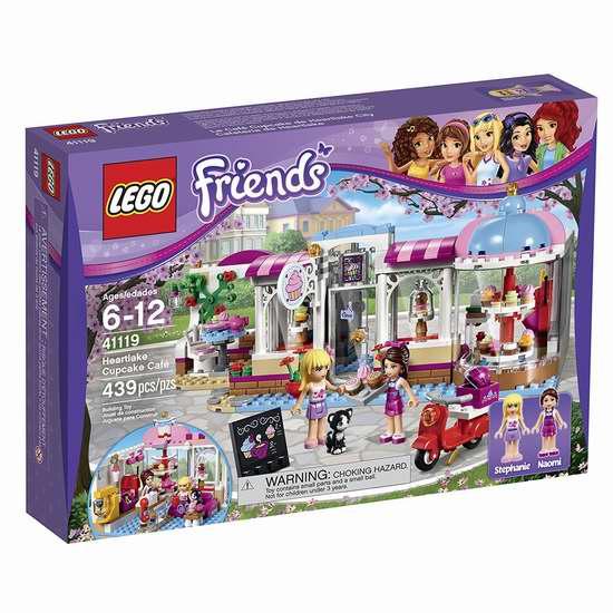 LEGO 乐高 41119 好朋友系列 心湖城纸杯蛋糕咖啡厅积木套装(439pcs)7折 35加元包邮!