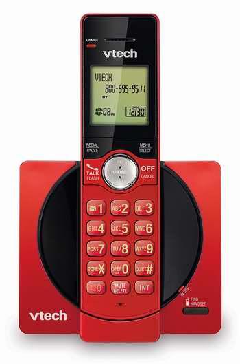 历史新低!VTech 伟易达 DECT 6.0 CS6919-16 红色时尚无绳电话系统 17.99加元限时特卖!