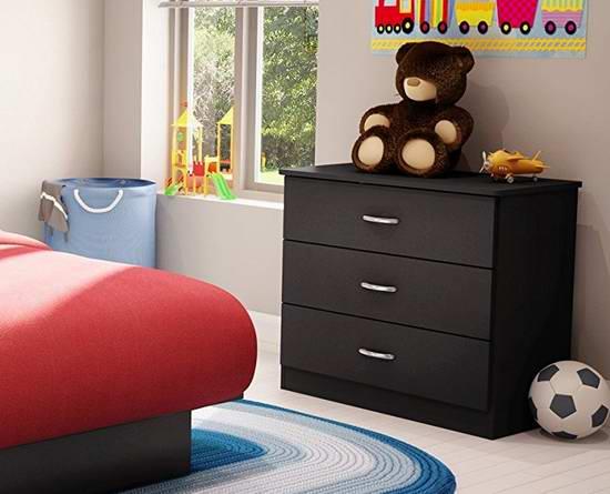 历史新低!South Shore Furniture Libra 时尚三抽柜 61.59加元限时特卖并包邮!