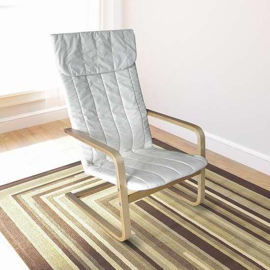 历史最低价!CorLiving LDQ-968-C Aquios 曲木高靠背扶手椅 62.99加元限时特卖并包邮!