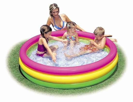 Intex 57422NP 儿童彩色充气游泳池/戏水池4折 19.95加元!